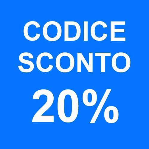 CODICE SCONTO 20%